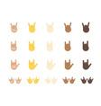 Rock gesture emoji vector image vector image