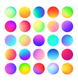 rounded holographic color gradient for button web vector image vector image