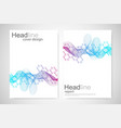 scientific brochure design template flyer vector image vector image