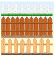 seamless fences set vector image vector image