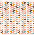 seamless retro vines leaves wallpaper pattern vector image vector image