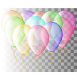 set of pink balloon isolated in the air frosted vector image vector image