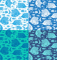 set of seamless ocean patterns vector image vector image