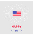 shining american flag independence day vector image vector image