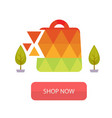 shop now the stylized bag from triangles backgroun vector image vector image