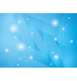 star background with blue abstractions vector image vector image