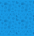stem learning blue line seamless pattern vector image vector image