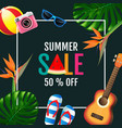 summer sale layout design colorful trendy vector image vector image