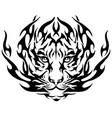 tiger image design tattoo emblem tiger vector image vector image