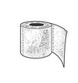 toilet paper sketch vector image