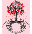 Tree with leaves shaped heart vector image vector image