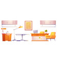 veterinary vet clinic furniture and stuff isolated vector image