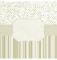Vintage dots card vector image vector image