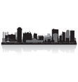 Winnipeg Canada city skyline silhouette vector image vector image