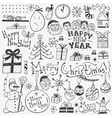 Winter holidays doodles vector image vector image