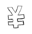 yuan money symbol vector image