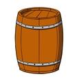 Cartoon barrel on white background vector image