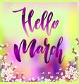 hello march quote vector image