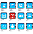 Office balloon icons vector image