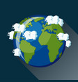 planet earth view from space icon vector image