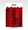 wall calendar 2015 vector image