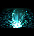 abstract futuristic cyberspace with a hacked vector image vector image