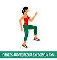 Aerobic icons full color 31 vector image vector image