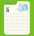Alphabet tracing worksheet with letter i and i