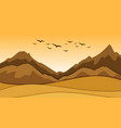 background scene with sand and hills