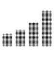 bar chart halftone icon vector image vector image