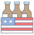 beer crate united state independence day related vector image vector image