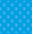 bowling ball pattern seamless blue vector image vector image