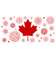 canada day background design of flag and firework vector image vector image