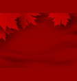 canada day banner design red maple leaves vector image vector image