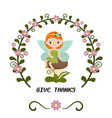 card with fairy card with fairy vector image vector image