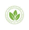 certified organic product stamp emblem ilustration vector image
