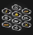 check engine auto icon set vector image
