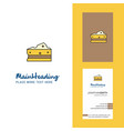 cheese creative logo and business card vertical vector image vector image