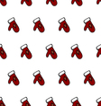 Classic colored red and white Christmass mitten vector image vector image