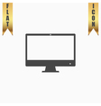 Computer display icon Monitor simbol vector image vector image