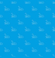 curious lizardpattern seamless blue vector image vector image