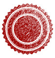 distress textured round rosette seal vector image