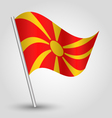 flag macedonia vector image