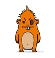 Funny angry cartoon hairy monster vector image vector image