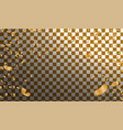 gold confetti celebration vector image vector image
