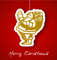 gold santa applique background vector image vector image