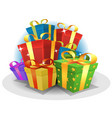 happy birthday gifts pack vector image vector image
