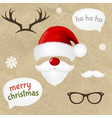 hipster christmas set vector image
