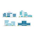hospital building medical office vector image vector image