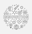 innovation round concept linear vector image